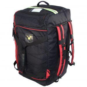 TEE-UU 4704-9015 RAGBAG PRO Bekleidungstasche schwarz rot Rucksacksystem vorne