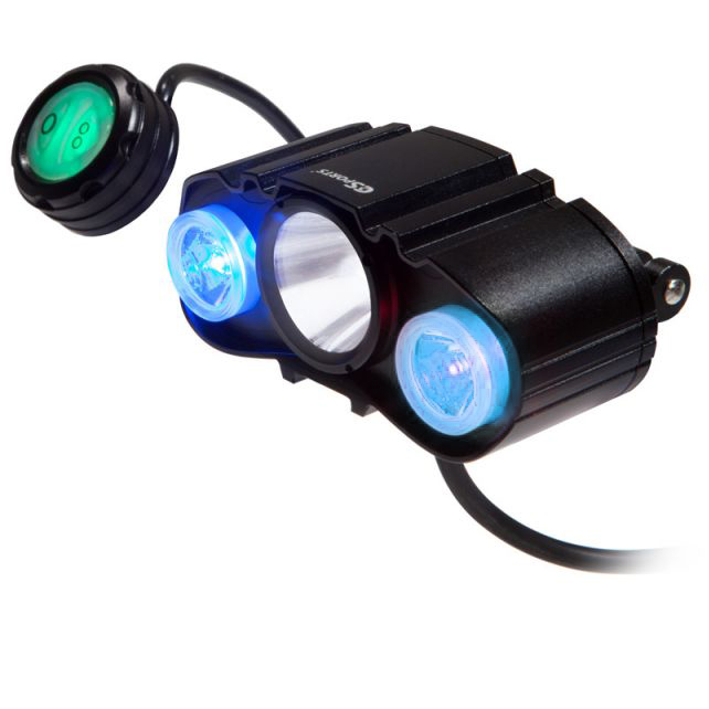 C3sports Maxpatrol 600 Dlx Police Bike Light Evp